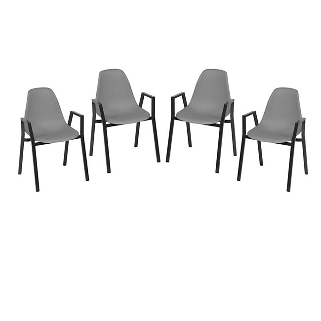 Greemotion Stapelstuhl Windsor 4er Set, grau - Bild 1