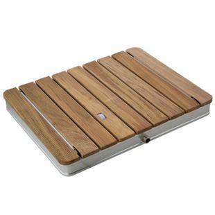 Mobile Gartendusche Bodendusche aus massivem Teak-Holz - Bild 1
