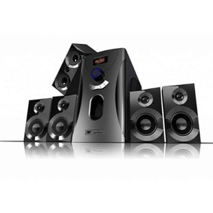 Auvisio Home-Theater Surround-Sound-System 5.1, schwarz - Bild 1