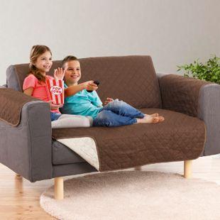 EASYmaxx Sofaüberzug Couch Coat 2-Sitzer 180x240cm braun/beige - Bild 1