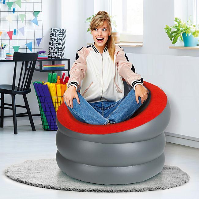 EASYmaxx Sessel aufblasbar schwarz/anthrazit - Bild 1