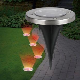 EASYmaxx Solar-Bodenleuchten mit Farbwechsel - Bild 1