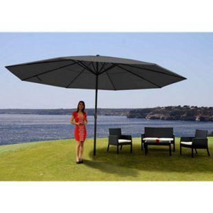 Sonnenschirm Carpi Pro, Gastronomie Marktschirm ohne Volant Ø 5m Polyester/Alu 28kg ~ anthrazit ohne Ständer - Bild 1