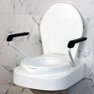 Servocare höhenverstellbarer Toilettensitz mit Deckel, Lehnen 3-fach verstellbar - Bild 1