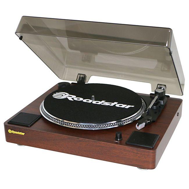 Roadstar TT-260SPK Halbautomatischer Plattenspieler mit Lautsprecher und RCA Line-Out - Bild 1