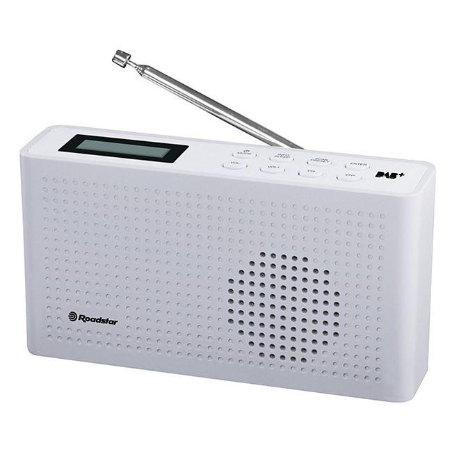 Roadstar TRA-130D+/WH Taschenradio, 20 Senderspeicher in weiß - Bild 1