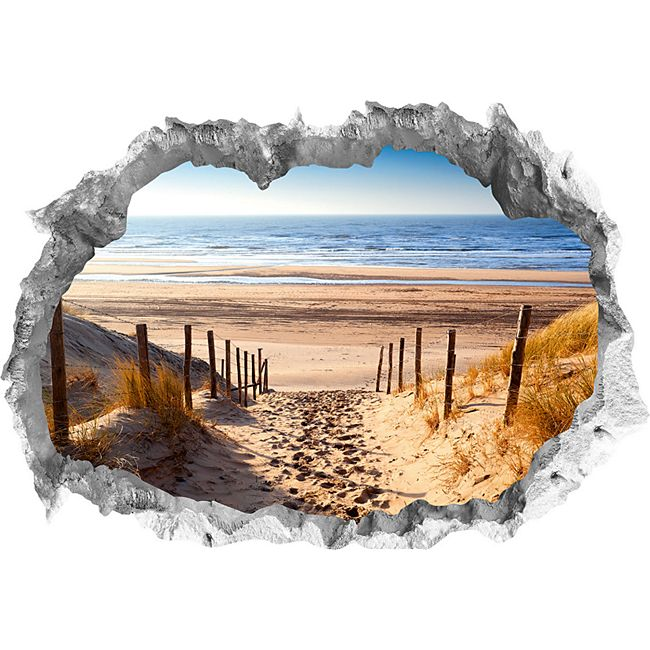 Wandtattoo 3D Weg zum Strand mehrfarbig - Bild 1