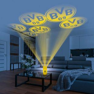 BVB LED-Echtwachskerze Projektor 3V gelb mit Logo - Bild 1