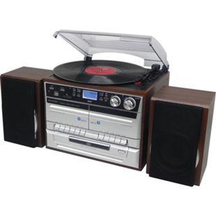 Soundmaster MCD5550DBR Stereo-HiFi-Musikcenter / DAB+ Radio und Encording Silber/Braun - Bild 1