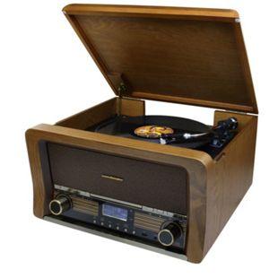Soundmaster NR50 Nostalgie Stereo Musikcenter mit Bluetooth,MP3/CD,Plattenspieler DAB+/UKW und Encoding-Funktion - Bild 1