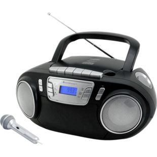 Soundmaster SCD5800SW CD/MP3 Boombox mit Radio, Kassettenrekorder, USB und externem Mikrophon - Bild 1
