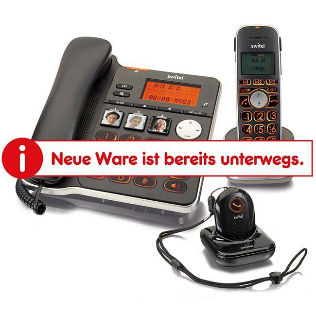 Switel D300 Vita Comfort mit Anrufbeantworter und Alarm Anhänger - Bild 1