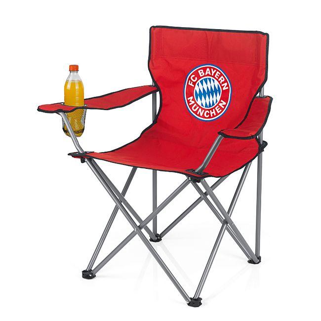 FCB Campingstuhl faltbar 80x50cm rot mit Logo - Bild 1