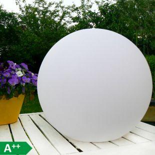Ø 30cm LED Solarlampe Solarleuchte IP54 mit Farbwechsel, Lichtsensor, Erdspieß - Bild 1