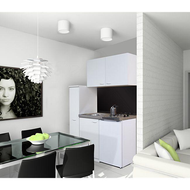 Respekta Miniküche MK130WOSSV 130 cm Weiß - Bild 1