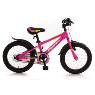 "Bachtenkirch 16"" Kinderfahrrad C-Modell ""Pepp"" pink/neon-gelb - Bild 1"