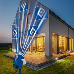 HSV LED-Motivstrahler 7,5W blau mit Logo - Bild 1