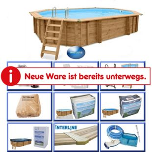 Interline Holzpool-Set Java inkl. Zubehör, 640 x 400 cm - Bild 1