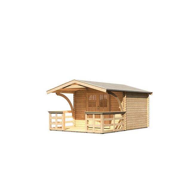 Karibu Gerätehaus Burgstein 3 Set 3, naturbelassen - Bild 1