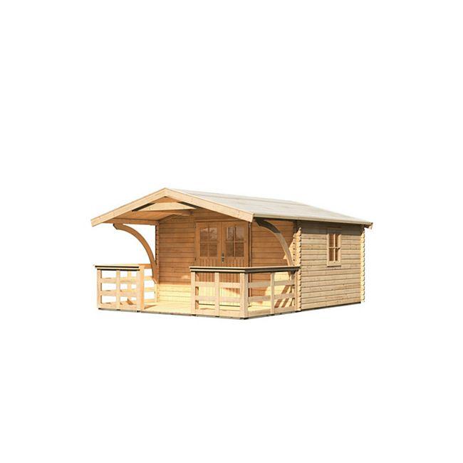 Karibu Gerätehaus Wurzbach 5 Set 3, naturbelassen - Bild 1