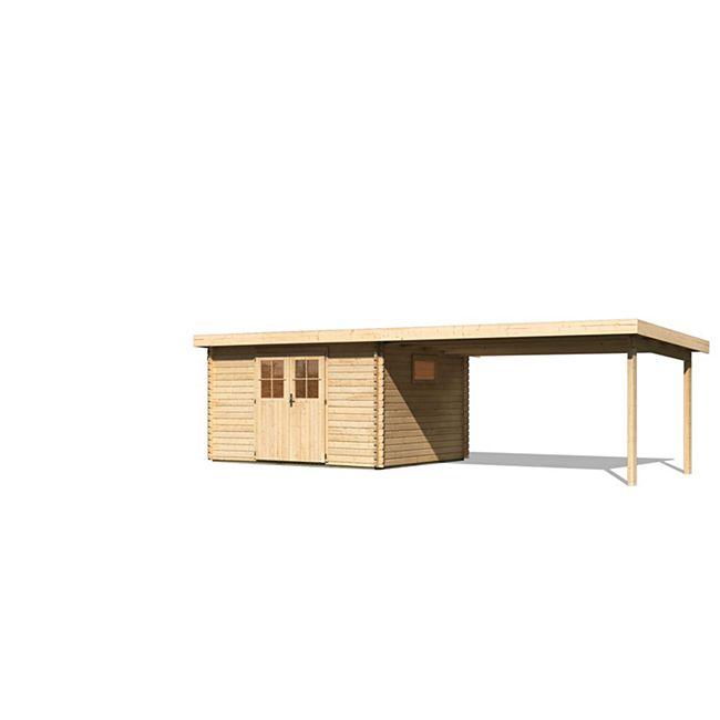 Karibu Gerätehaus Radeberg 4 Set 4, naturbelassen - Bild 1