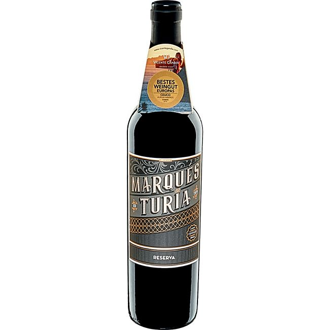 Marques del Turia Reserva DOP rot 12,5 % vol 0,75 Liter - Bild 1