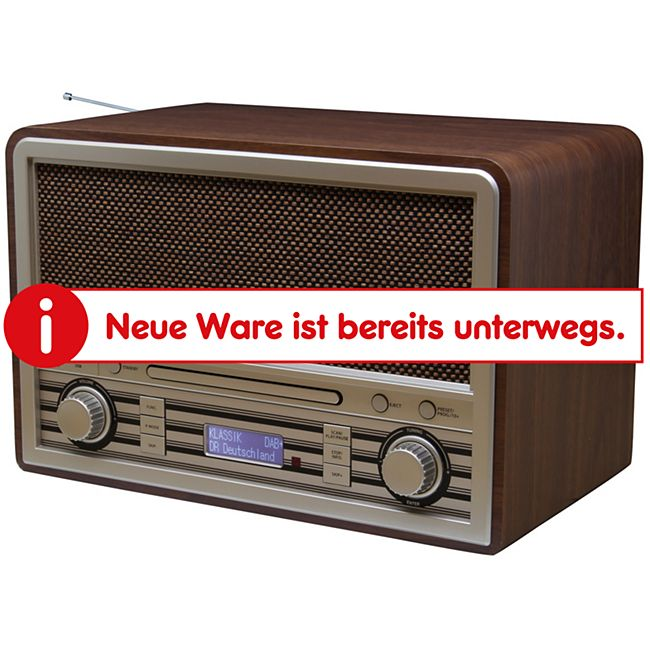 Soundmaster NR955SW CD/MP3 Nostalgie DAB+/UKW Digitalradio mit Bluetooth - Bild 1