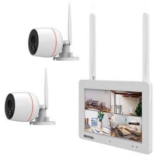 Inkovideo INKO-EL0206 Full HD WLAN Überwachungsset mit Touchscreen, Bewegungssensor und Audioübertragung - Bild 1