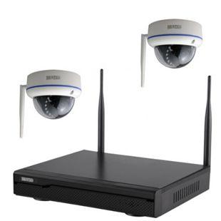 Inkovideo INKO-113M-2D Komplettset 4-Kanal Netzwerkrekorder mit 2 x HD Dome Überwachungskameras - Bild 1
