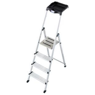 Krause Stufen-Stehleiter Secury mit MultiGrip-System und 8 l System-Eimer, 4 Stufen - Bild 1