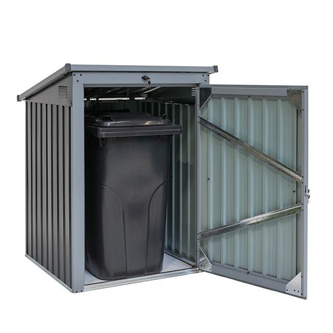 Metall Mülltonnenbox 1-fach anthrazit/lichtgrau - Bild 1
