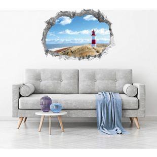 Wandtattoo 3D Leuchtturm mehrfarbig - Bild 1