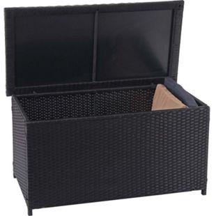 Poly-Rattan Kissenbox MCW-D88, Gartentruhe Auflagenbox Truhe ~ Basic schwarz, 51x100x50cm 170l - Bild 1