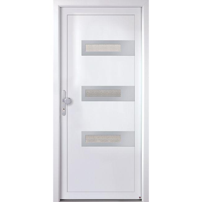 KM MEETH Kunststoff-Haustür Modell K367D weiß, DIN links - Bild 1