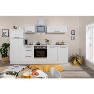 Respekta Premium Küchenzeile RP270WWC 270 cm Weiß  - Weiß Hochglanz - Bild 1