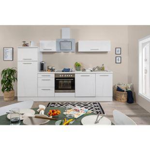 Respekta Premium Küchenzeile RP280WWC 280 cm Weiß - Weiß Hochglanz - Bild 1