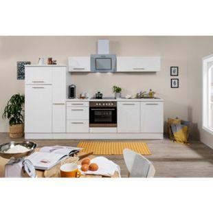 Respekta Premium Küchenzeile RP300WWC 300 cm Weiß - Weiß Hochglanz - Bild 1