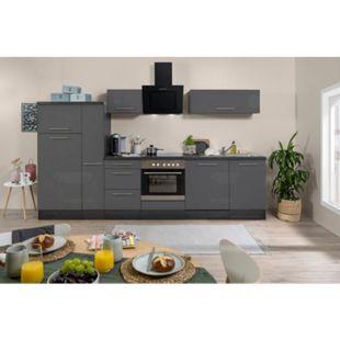 Respekta Premium Küchenzeile RP310EGC 310 cm Eiche Grau NB - Grau Hochglanz - Bild 1
