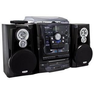 Karcher KA350 Stereoanlage mit 3-fach CD-Wechsler, Kassettendeck & Plattenspieler, MP3, USB-Schnittstelle und Fernbedienung - Bild 1