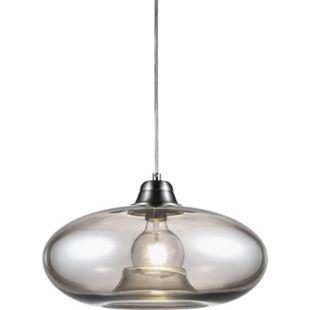 Nino Leuchten Pendelleuchte LILLE, Nickel matt, Glas rauchgrau - Bild 1