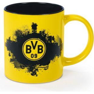 BVB Kaffeebecher 350 ml schwarz/gelb mit Logo - Bild 1