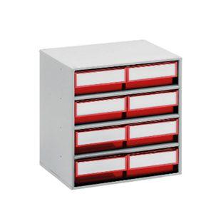 Treston 3020-5 Schubladenmagazin mit 8 Schubladen, rot - Bild 1