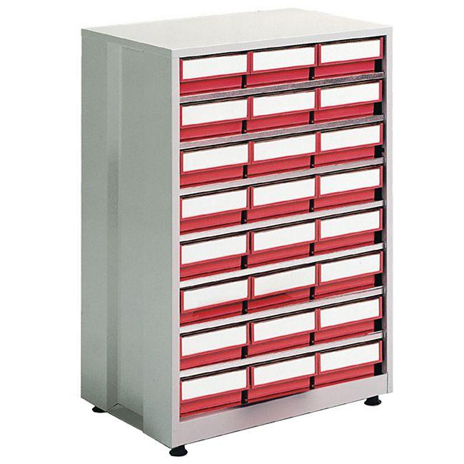 Treston 4020-5 Lager-Magazin mit 24 Schubladen, rot - Bild 1