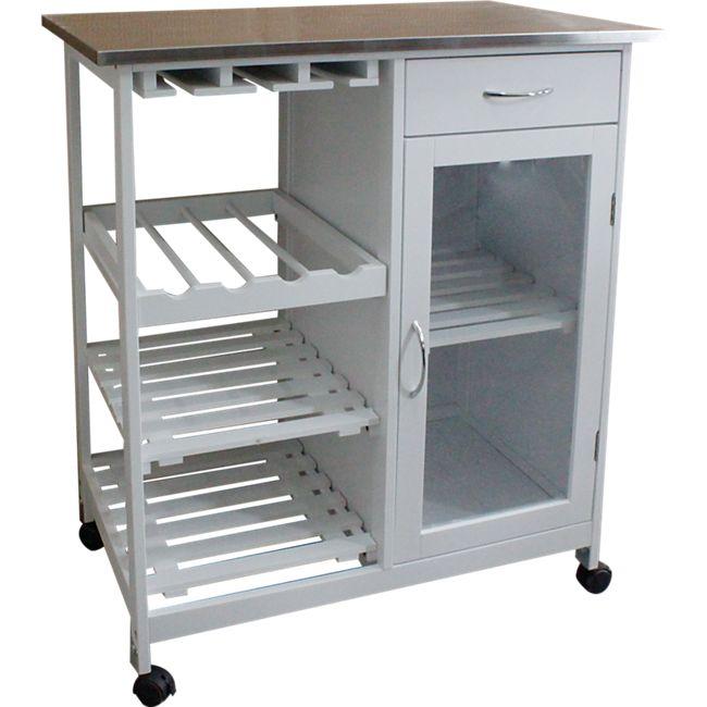 HappyHome Küchenwagen mit Metallplatte HKD02-WEI - Bild 1
