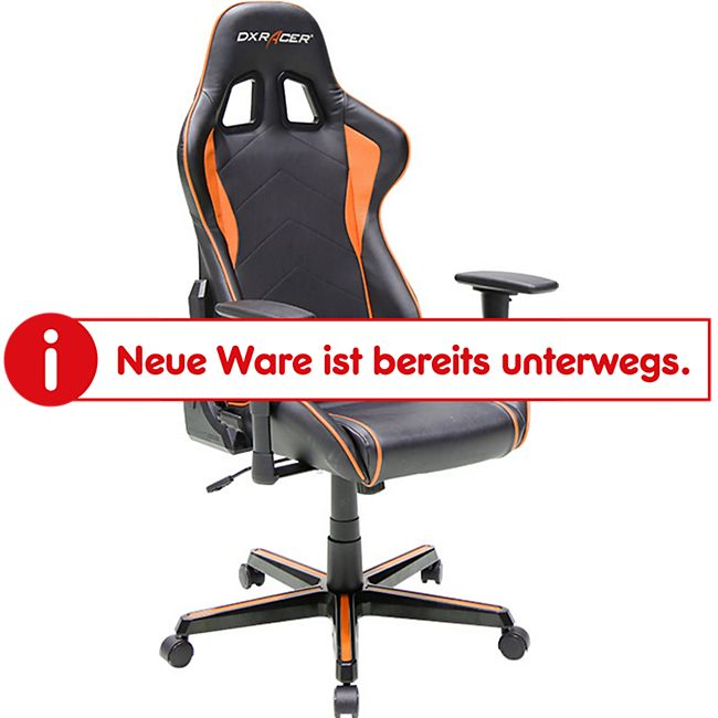 DXRacer Gaming Stuhl, OH/FH08/NO, F-Serie, schwarz-orange - Bild 1