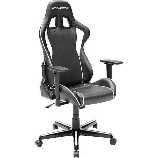 DXRacer Gaming Stuhl, OH/FH08/NW, F-Serie, schwarz-weiß - Bild 1