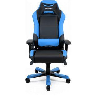 DXRacer Gaming Stuhl, OH/IS11/NB, Iron Series, schwarz-blau - Bild 1