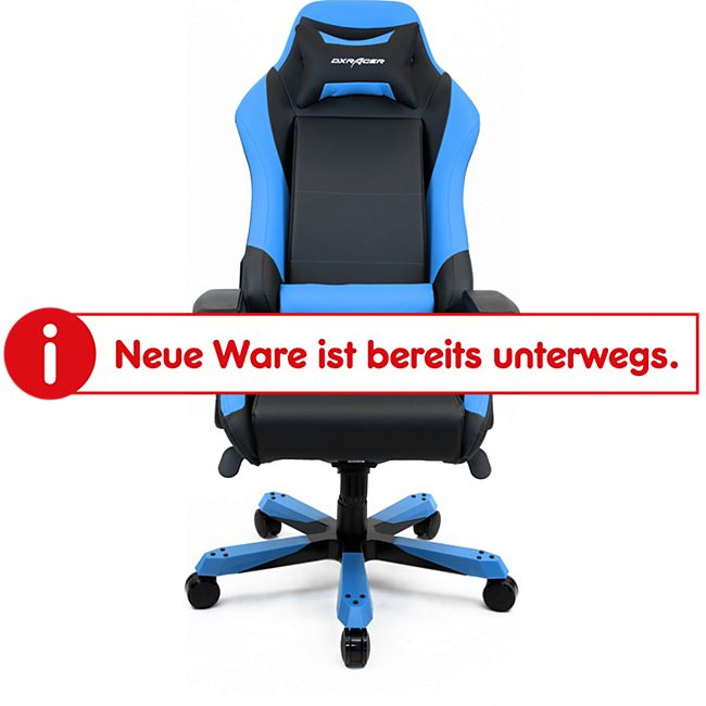 DXRacer Gaming Stuhl, OH/IS11/NB, Iron Series, schwarz-blau - Bild 1