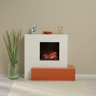 Albero Möbel Elektrokamin Casablanca, brillantweiß/cottofarb - Bild 1