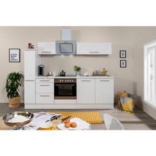 Respekta Premium Küchenzeile RP240WWC 240 cm Weiß - Weiß - Bild 1